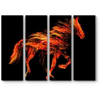 Мчит без устали огненный жеребец