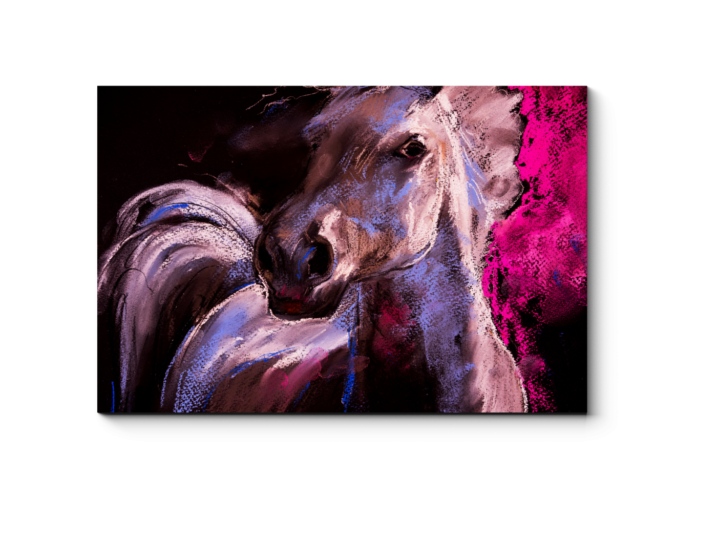 Модульная картина Портрет белой лошади (30x20) фото