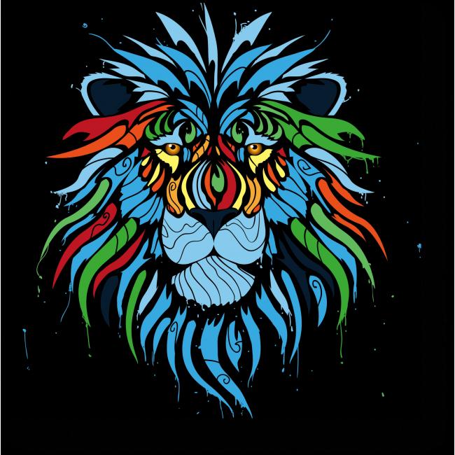 Модульная картина Царь зверей во всей красе