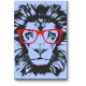 Лев-хипстер в красных очках