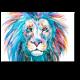 Радужный лев, акварель
