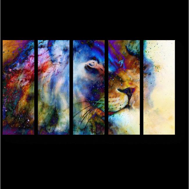 Модульная картина Космический лев