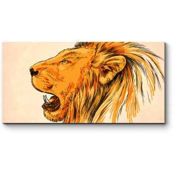 Модульная картина Не спорь с царем зверей