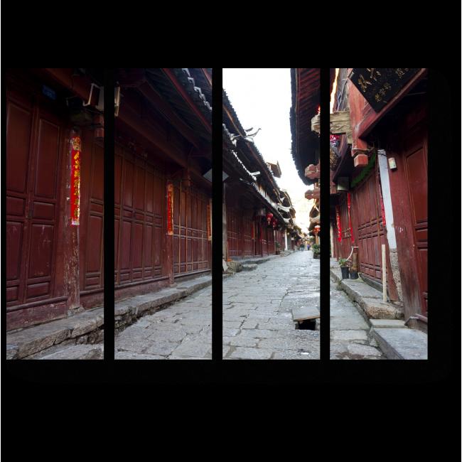 Модульная картина Неповторимый колорит Китая