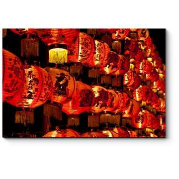 Теплый свет китайских фонариков