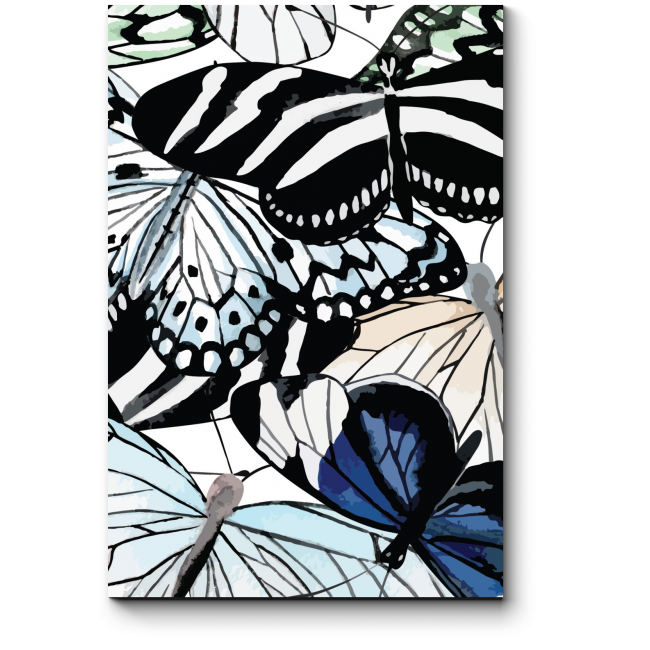 Модульная картина Мир бабочек