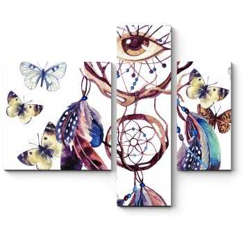 Ловец снов в окружении порхающих бабочек