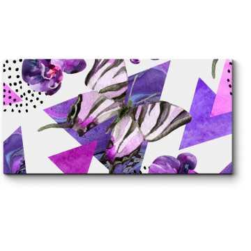 Модульная картина Гармония фиолетового цвета