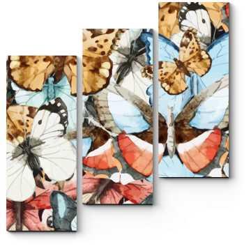 Модульная картина Удивительные и яркие бабочки