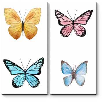 Модульная картина Квартет бабочек