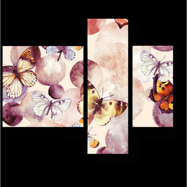 Модульная картина Один день из жизни бабочек