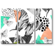 Геометрическая композиция с бабочками