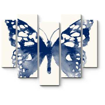 Модульная картина Бабочка, акварель