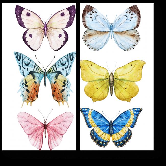 Модульная картина Радужные бабочки