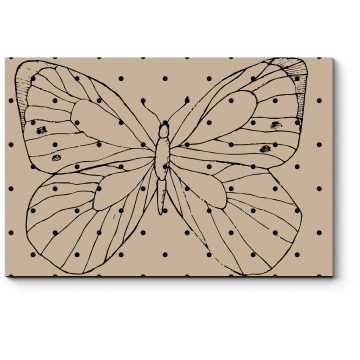 Минималистическая бабочка