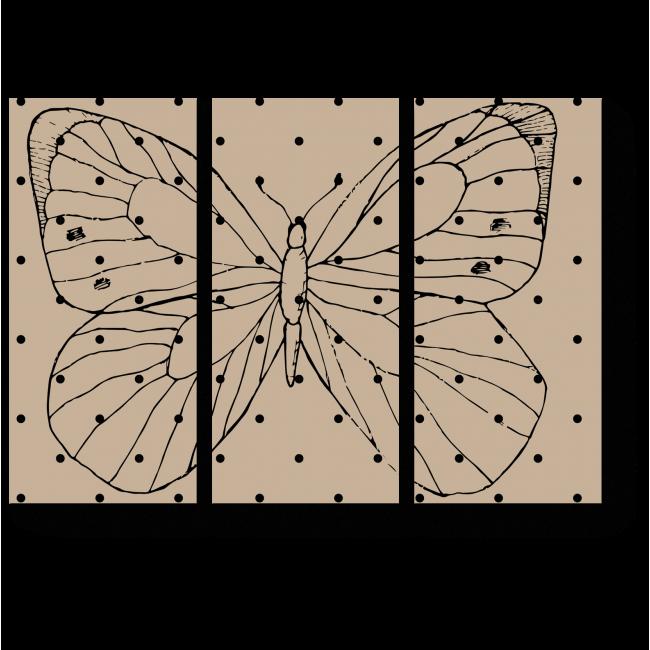 Модульная картина Минималистическая бабочка