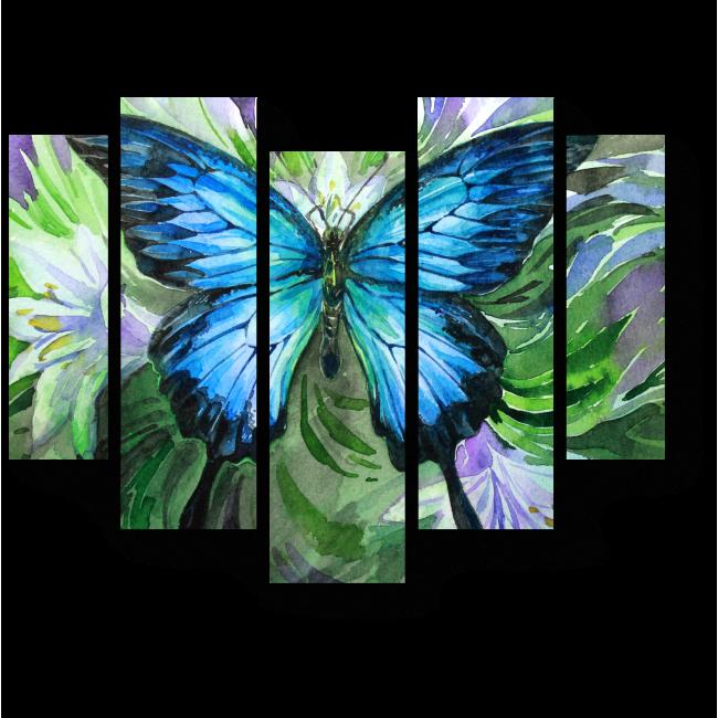 Модульная картина Прекрасная бабочка отдыхает