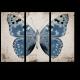 Винтажная голубая бабочка