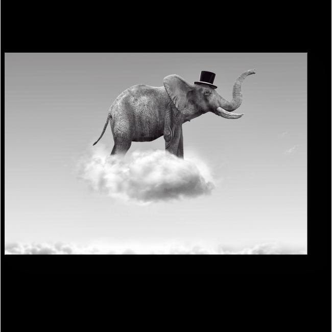 Модульная картина Летающий слон