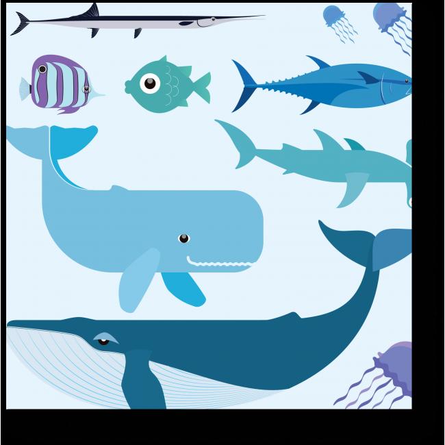 Модульная картина Морской мир