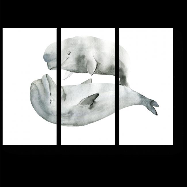 Модульная картина Сладкие сны, акварель