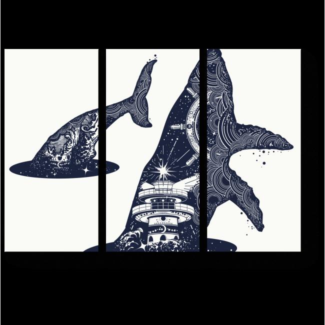 Модульная картина Межгалактический кит