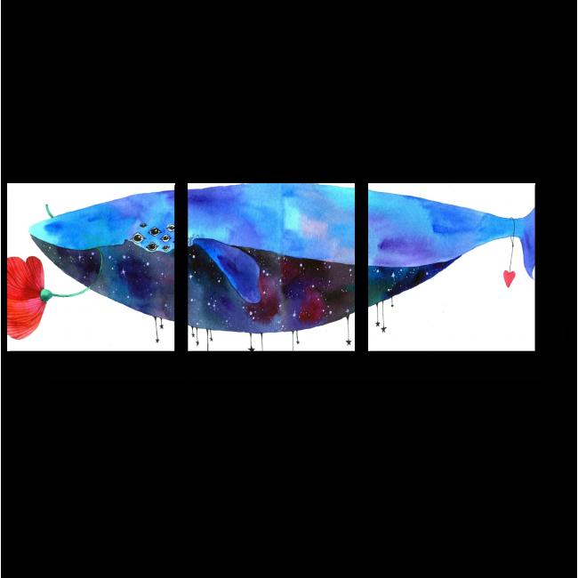 Модульная картина Влюбленный кит