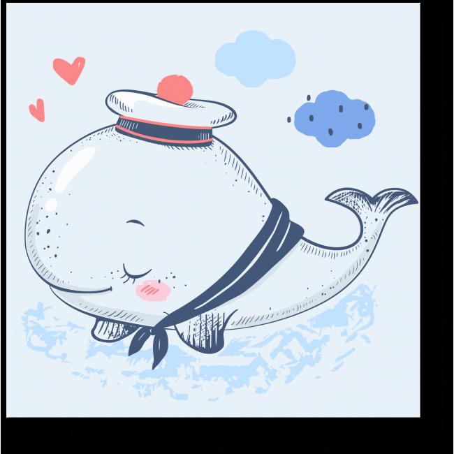 Модульная картина Маленький китенок
