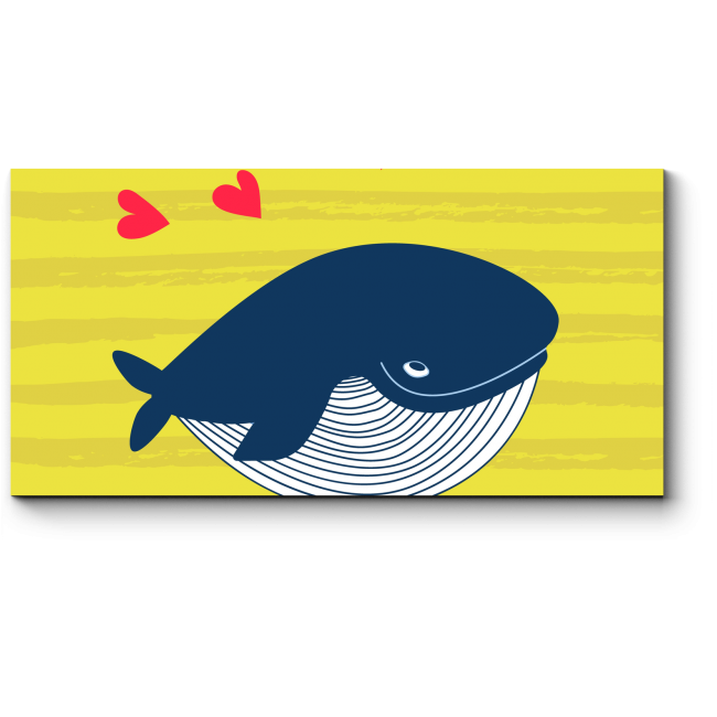 Модульная картина Любвеобильный кит