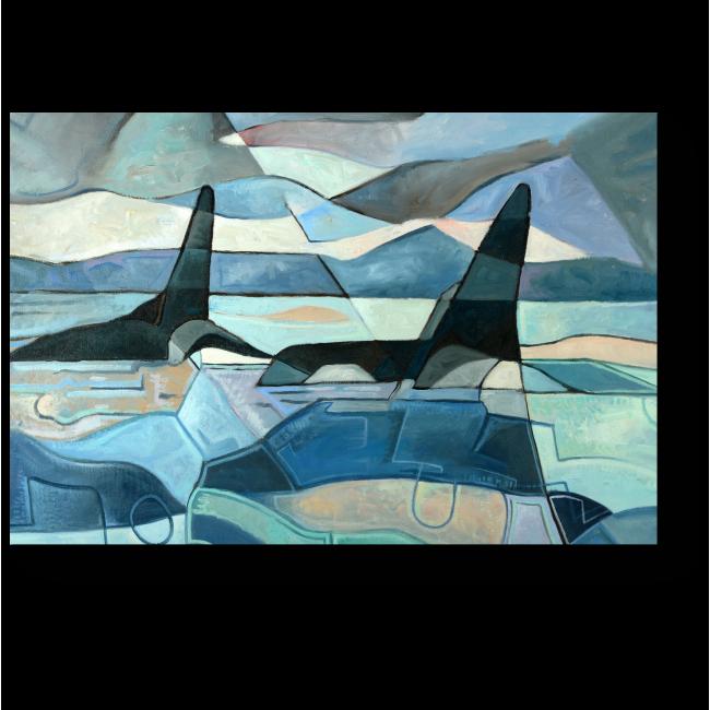 Модульная картина Киты, плавающие в ожидании добычи
