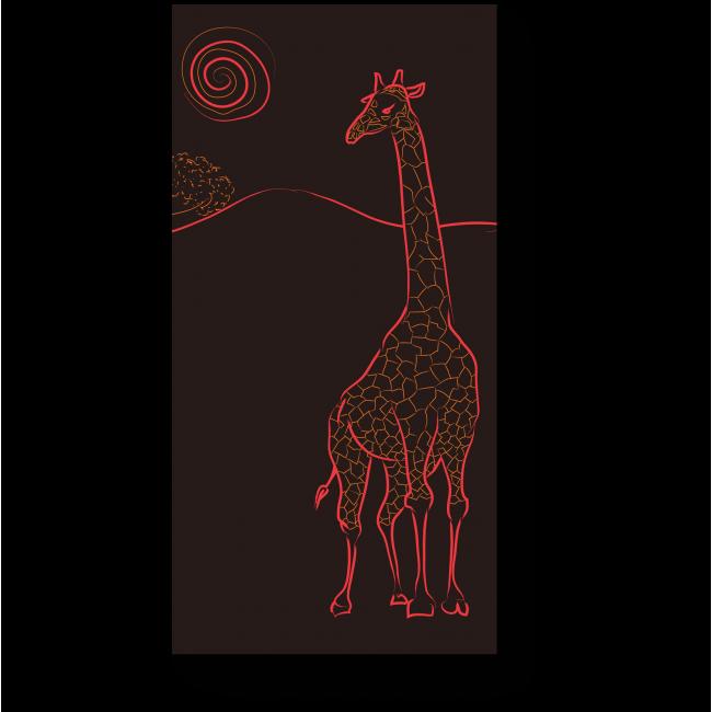 Модульная картина Силуэт жирафа