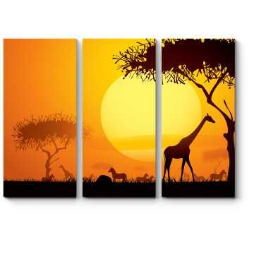 Великолепный африканский закат