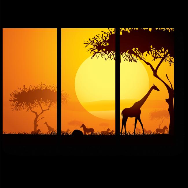 Модульная картина Великолепный африканский закат