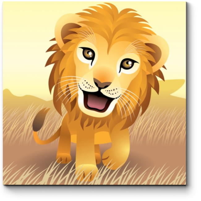 Модульная картина Обаятельный малыш-львенок