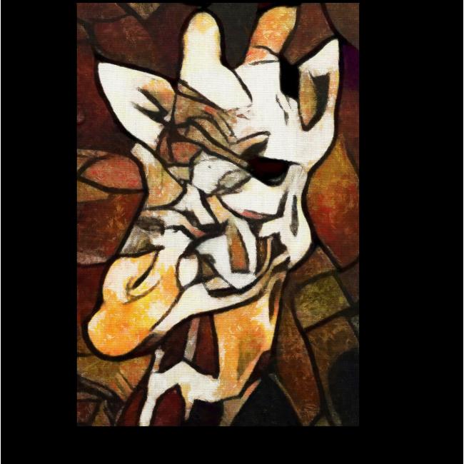 Модульная картина Воспоминания о жирафе