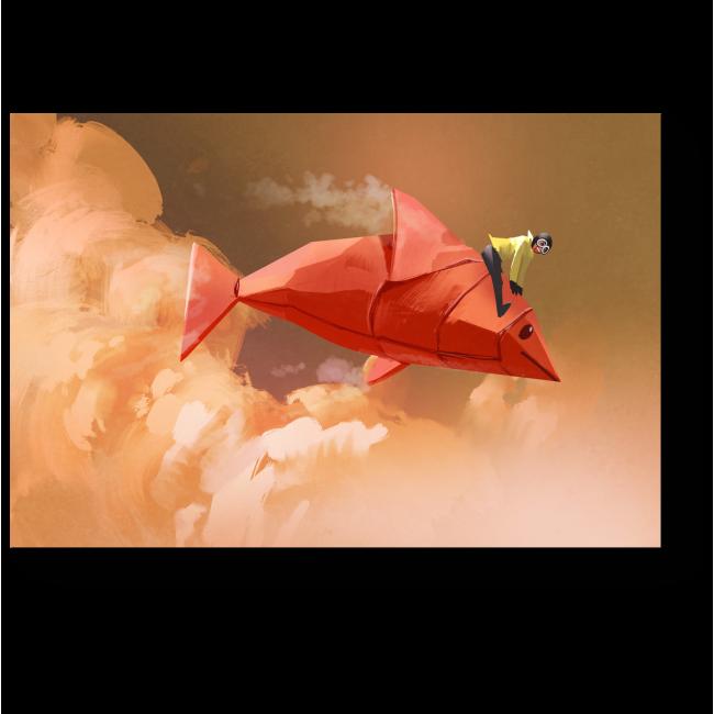 Модульная картина Летящая сквозь облака