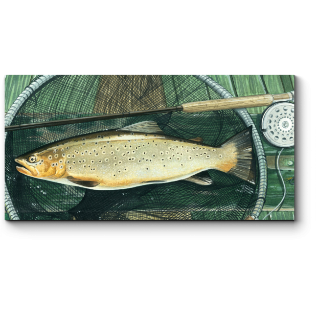 Модульная картина Свежий улов