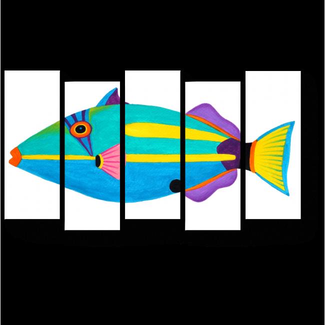 Модульная картина Яркая рыба