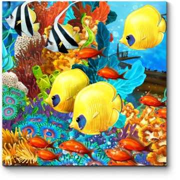 Модульная картина Тропические рыбки