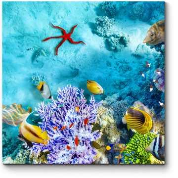 Модульная картина На глубине моря
