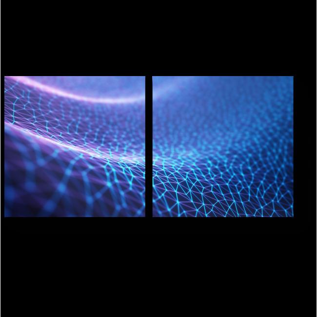 Модульная картина Цифровой узор