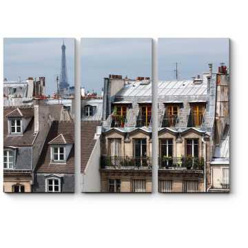Модульная картина Классические домики старого Парижа