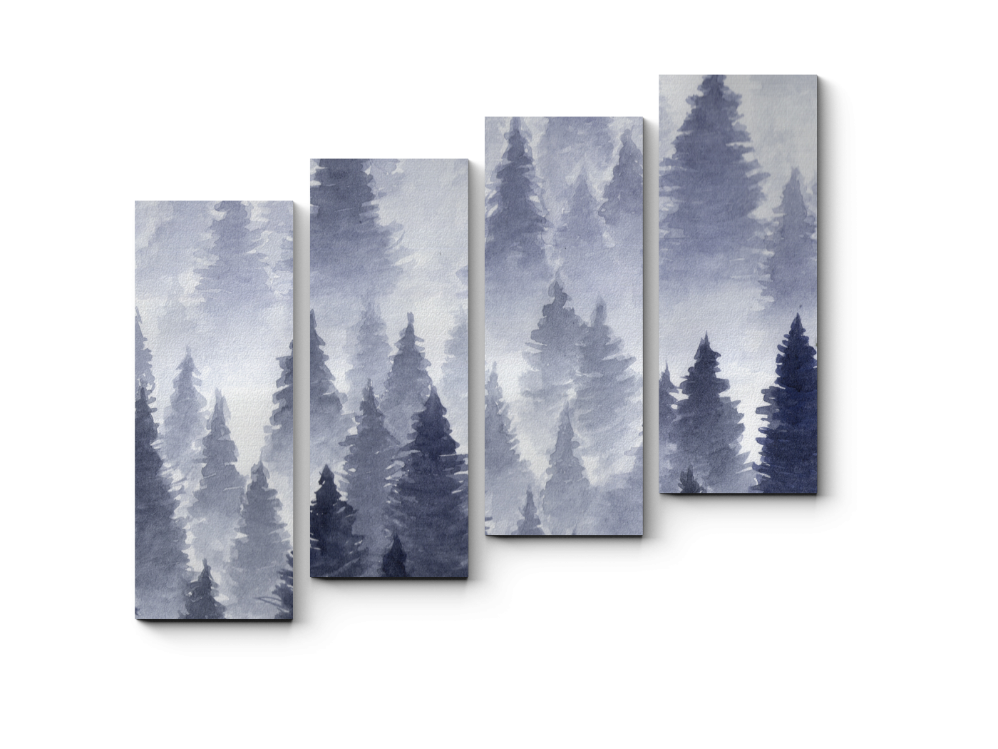 Модульная картина Туман (80x69) фото