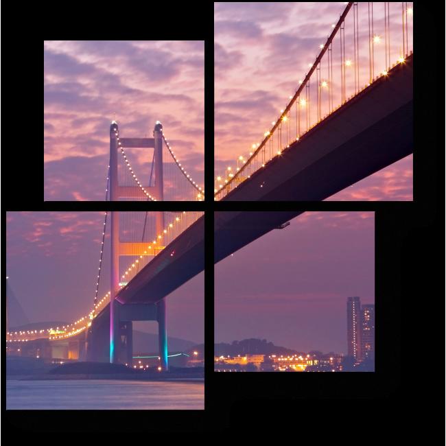Модульная картина Мост в сумерках