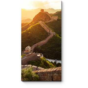 Модульная картина Великая стена во время заката