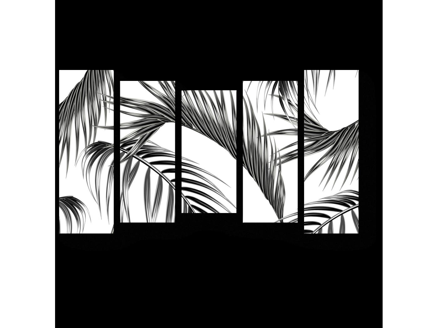 Модульная картина Листья (90x54)