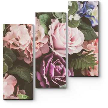 Модульная картина Прекрасные весенние цветы