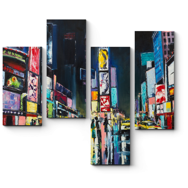 Модульная картина Нью-Йорк, Таймс-сквер.