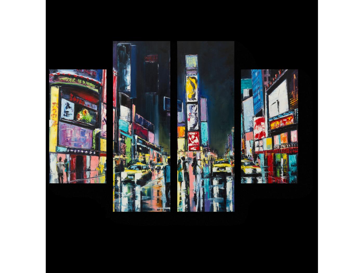 Модульная картина Нью-Йорк, Таймс-сквер. (80x60) фото
