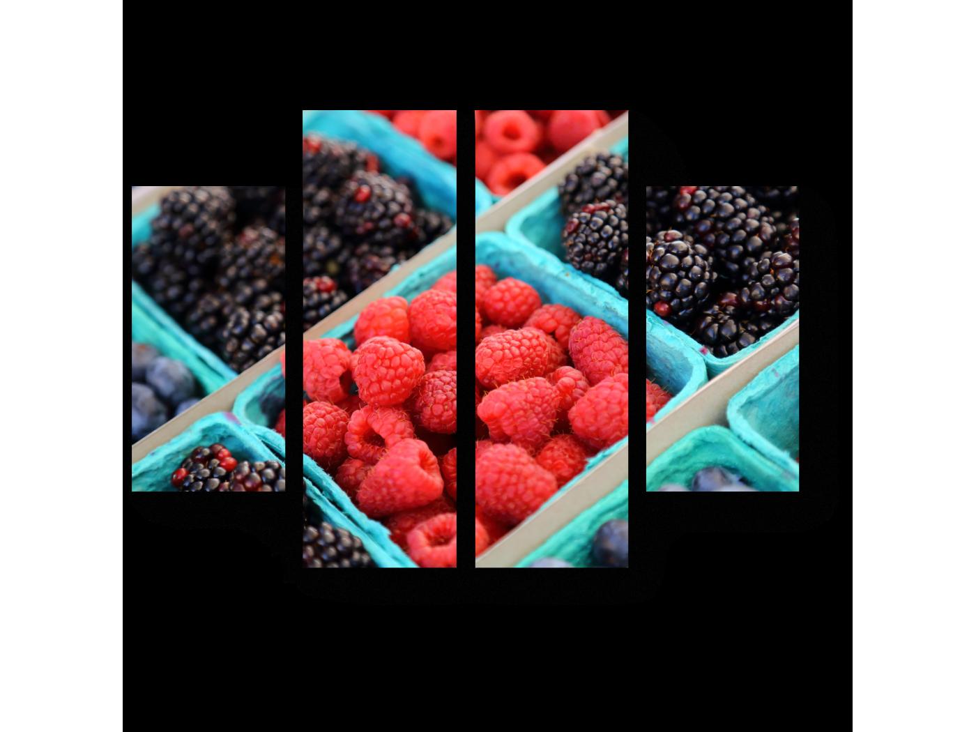 Модульная картина Летние лакомства (80x60) фото